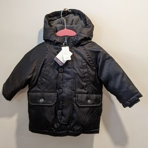 NWT Gap baby black down fill jacket 12-18 Months